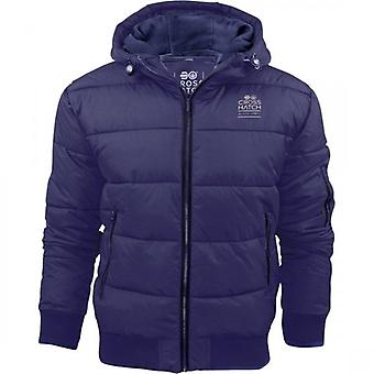Crosshatch Mens Crosshatch Althorpe Quilted Padded Hood Jacket Fleece Lined Winter Coat.