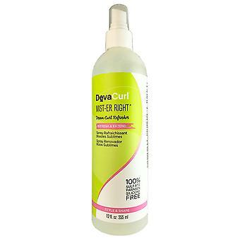 Devacurl sumu-er oikea reresh ja pidentää hiusten spray 12 oz
