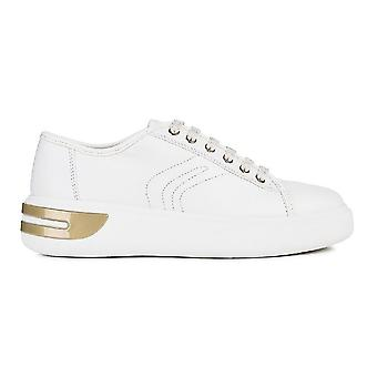 Geox Womens D Ottaya A Lace Up Leather Trainers