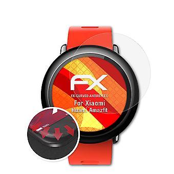 atFoliX 3x Película Protectora compatible con Xiaomi Huami Amazfit transparente