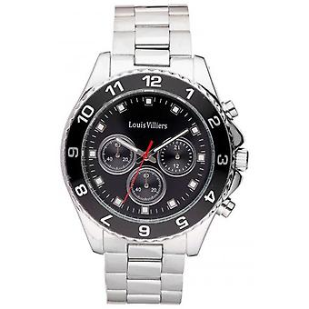 Louis Villiers Quartz Analog Women Watch with Stainless Steel Bracelet LVAG5877-8