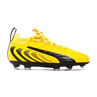 Puma One 20.3 FG/AG Firm Ground Kids Football Boot Yellow Spark