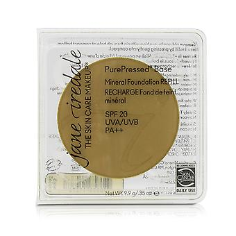 Pure geperste basis minerale foundation refill spf 20 gouden gloed 208720 9.9g/0.35oz