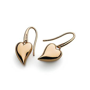 Kit Heath Desire Forever Lust Heart Rose Gold Plate Drop Boucles d'oreilles 60FTRG017