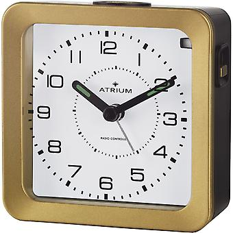 ATRIUM alarm clock Analog quartz alarm clock A650-6 light snooze gold