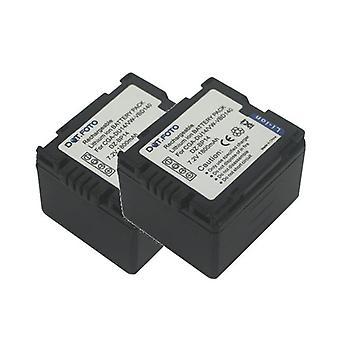 2 x Dot.Foto Panasonic CGA-DU12, CGA-DU14, VW-VBD140 batería de repuesto - 7.2v / 1800mAh