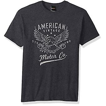 Fifth Sun Men's Man Cave Graphic Tees, Gray//Motor Standard, xx-Large