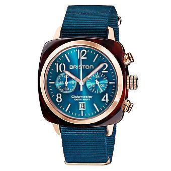 Briston 19140.PRA.T.31.NBD Clubmaster Classic Peacock Blue Wristwatch