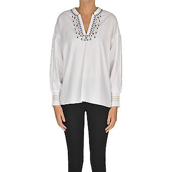 Nenette Ezgl266059 Women's White Cotton Shirt