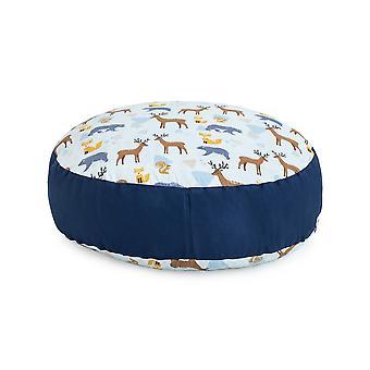 Ready Steady Bed Design Kids Giant Round Floor Cushion | Soft Play Kind Veilig | Peuter Speelkamer woonkamer (Wildwood)