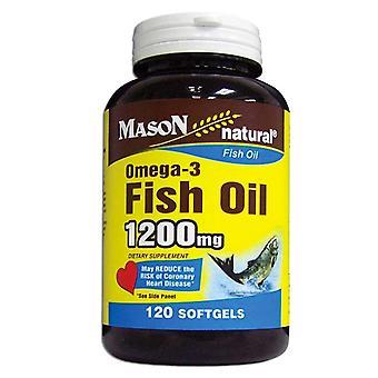 Mason natural fish oil, 1200 mg, omega-3, softgels, 120 ea