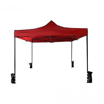 Möbel Rebecca Gazebo TendonE rot Akkordeon 4 Gewichte Metall Polyester 3 x 3