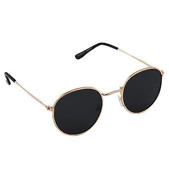 Sunglasses UV 400 Around Polarizing Glass Gold Black S301_2 FREE BrillenkokerS301_2