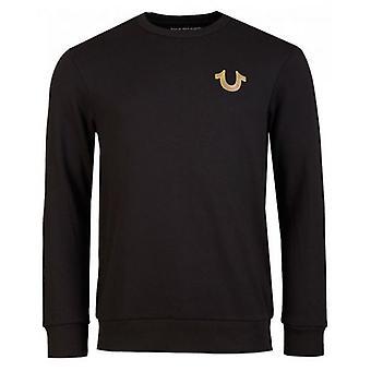 True Religion Mixed Metal Buddha Sweatshirt