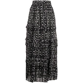 Isabel Marant ÉToile Ju112620p040ebkec Women's Black Cotton Skirt