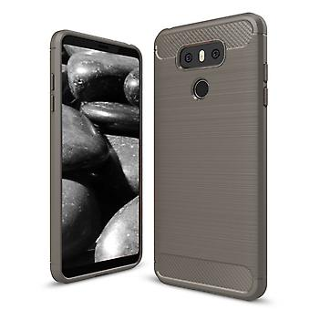 Shell pour LG G6 Carbon Fiber Armor Case Protection TPU Grey