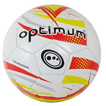 Optimum Velocidade Training Soft Touch Football Soccer Ball White/Red/Green