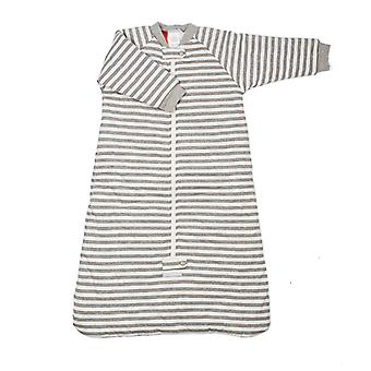 uh-oh! Baby Sleeping Bag with Long Sleeves 3.0 tog Warmth Rating Grey Stripe