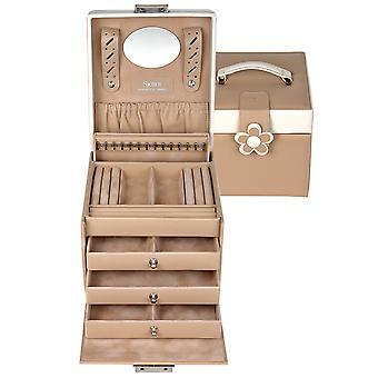 Sacher jewellery box cream jewellery box BELLA FIORE drawers lockable