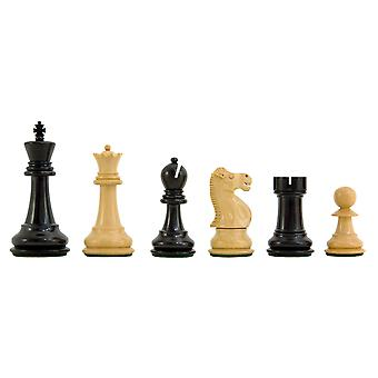 Reykjavik Ebony Chess Pieces with Case 3.75 inches