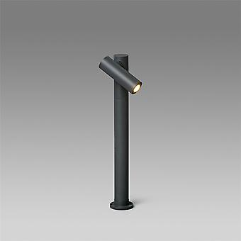 Faro Spy-2 - Outdoor LED Bollard Spotlight Lamp Dark Grey 6W H430 IP65 - FARO70783