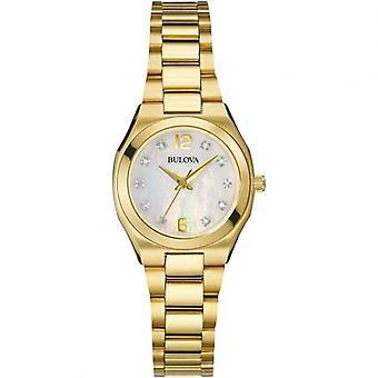 Bulova 97S109 المرأة & apos;s الماس معرض ساعة اليد