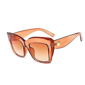 Gafas de sol cateye de gran tamaño UV400 Kylie en naranja