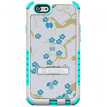APPLE IPHONE 6 PLUS BEYOND CELL TRI SHIELD CASE - BLUE BLOSSOM