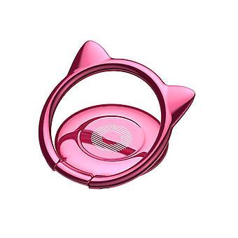 バサス猫の耳ポータブル金属リングブラケット指リングホルダー電話スタンド iphoneサムスンxiaomi