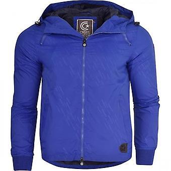 Crosshatch Mens Summer Lightweight Windbreaker Hood Jacket Zip Pockets Coat