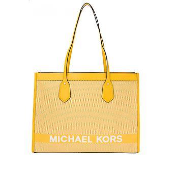 Michael Por Michael Kors 30h9gyit7c719 Mujeres's Yellow Fabric Tote