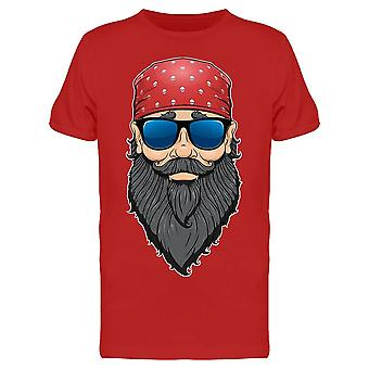 Clipart Bearded Man Sunglasses Tee Men's -Image by Shutterstock