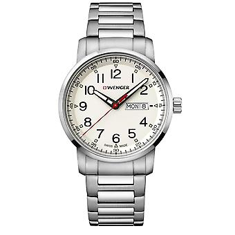 Wenger Attitude Heritage Quartz Cream Dial Silver Stainless Bracelet Men's Watch 01.1541.108 RRP £155