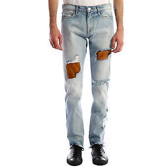 424 0082ltind Men's Light Blue Cotton Jeans