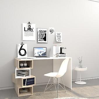 Damon White Color Desk, Sonoma em Chip Melaminic 120x60x75cm
