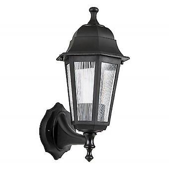 Lámpara de pared óptica negro plástico color, L15xP19xA34 cm