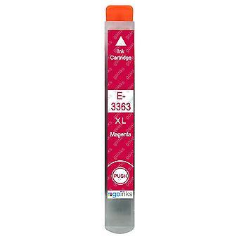 1 Magenta blækpatron til at erstatte Epson T3363 (33XL-serien) Kompatibel/ikke-OEM fra Go Inks