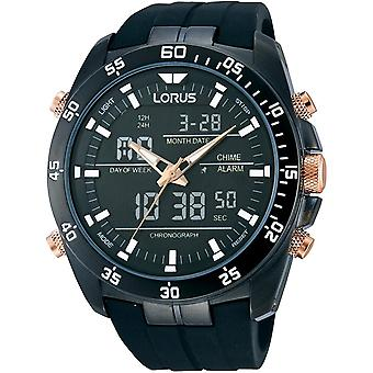 Lorus RW615AX-9 Analogue And Digital Multi-function Black Wristwatch