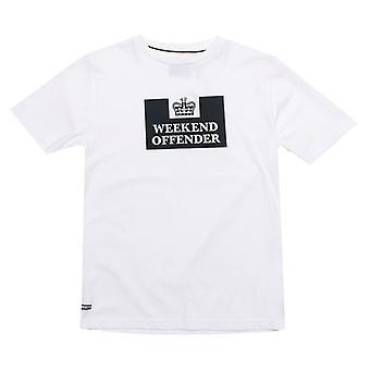 Boy's Weekend Offender Junior Prison T-Shirt in White