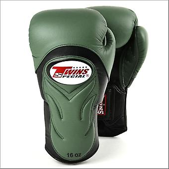 Twins special deluxe sparring gloves - olive green