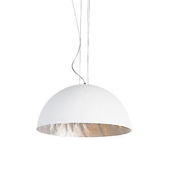 QAZQA Lampe suspendue moderne blanche 50 cm - Magna