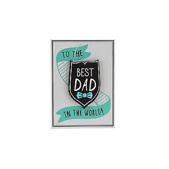 CGB Giftware No1 Dad Best Dad Keepsake Card