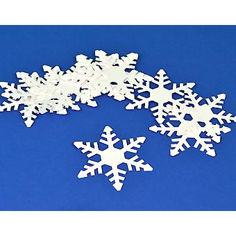 15 White Christmas Snowflake Card Shapes for Crafts