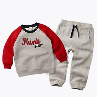 Kids Suit And Velvet Hoodies T-Shirt And Pants