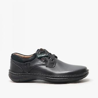 Josef Seibel Anvers 36 Mens Leather Wide Fit Schoenen Zwart