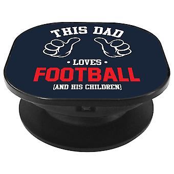 This Dad Loves Football And His Children Phone Grip