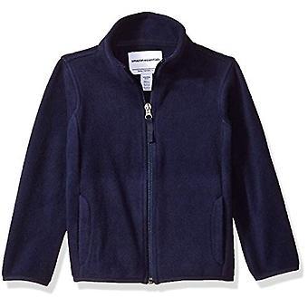 Essentials Girl's Full-Zip Polar Fleece Jacket, Navy, Small