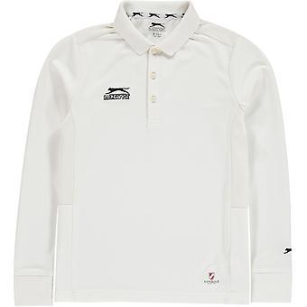 Slazenger Long Sleeve Cricket Shirt Juniors
