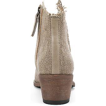Zeven wijzerplaten Womens UMA stof amandel teen enkel mode laarzen