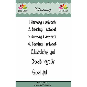 Dixi Craft Clear Stamps Danish Texts 3